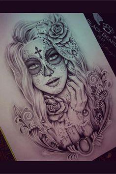 Gypsy Skull tattoo idea