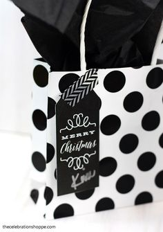 Black and White Christmas Gift Tags | TheCelebrationShoppe.com