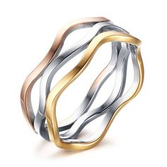 Chic Multilayered Colored Ring For Women #shoes, #jewelry, #women, #men, #hats, #watches, #belts