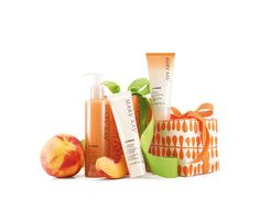 Keep your hands peachy keen with a three-step system that helps to keep your hands feeling rejuvenated, soothed and pampered. This #giftset contains a Softener, Smoothie Scrub and Hand Cream. The perfect pampering #gift. #XmasIdeas http://wu.to/5n9OOK