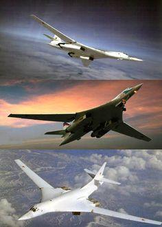 "Russian Strategic Bomber Tu-160 (AKA  ""White Swans & ""Blackjack"" )"