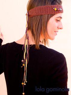 Lola Gominola: marzo 2013 Band, Crochet, Hair Styles, Accessories, Beauty, Fashion, Bonbon, Crochet Baby, March
