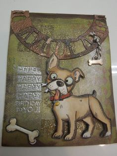 crazy dog birthday by charlie horse - Cards and Paper Crafts at Splitcoaststampers