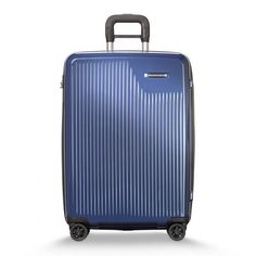 Briggs & Riley Sympatico 21 Inch Carry On Spinner - Blue - Briggs and Riley - Top Brands - Luggage Briggs And Riley, Last Minute Deals, Marine Blue, Business Travel, Day Trip, The Expanse, Carry On, Suitcase, Packing