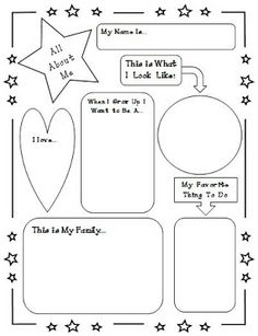 All About Me Poster - so I can learn more about the kiddos!! And put in their data folders!