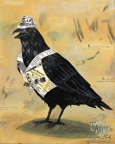 Raven in Hat by =TransientArt on deviantART