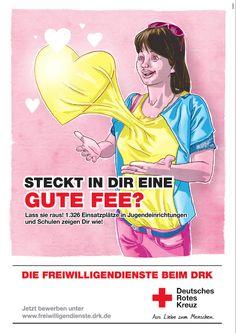 Rotes Kreuz Plakat Freiwilligendienst Super an der Spree