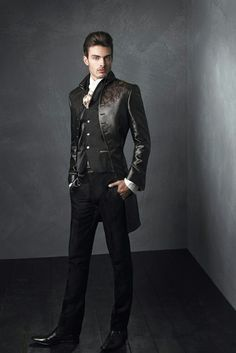 140 Elegant Men's Formal Wear with Tuxedo and Suits - Fashion Best Steampunk Fashion, Gothic Fashion, Mode Cyberpunk, Gothic Mode, Elegant Man, Mens Fashion Suits, Mode Style, Wedding Suits, Costume Design