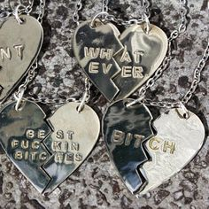 What Ever, Best Fuckin Bitches & Bitch Necklaces !! Available At www.iheardtheyeatcigarettes.com Free Delivery !! #ring #rings #jewelry #jewellery #necklace #necklaces #fashion #model #designer #love #cool #asos #urbanoutfitters #ihtec #iheardtheyeatcigarettes