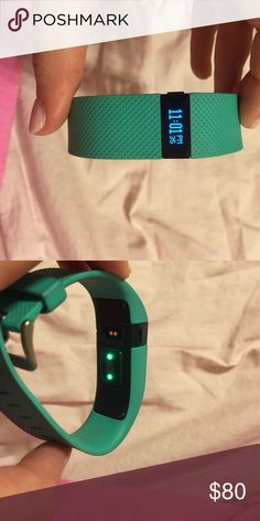 FitBit Charge HR Teal, comes with charger and computer adapter Accessories Watches