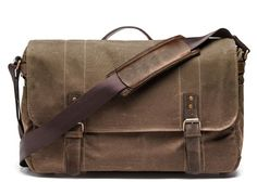 ONA Ranger Tan Union Street Camera & Laptop Messenger Bag