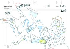 Key-Animation+rough layout.Space Dandy #23-Bahi JD