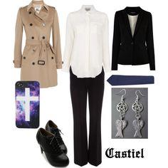"""Castiel"" by winterlake25 on Polyvore"