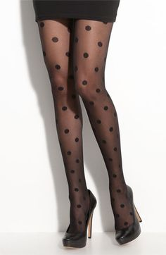 Enormous Swiss Dot tights, Kate Spade