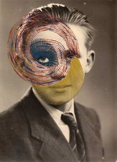 Embroidered Photographs by Maurizio Anzeri Distortion Photography, Mixed Media Photography, Artistic Photography, Art Photography, Distortion Art, Surrealism Photography, Textiles, Photocollage, A Level Art