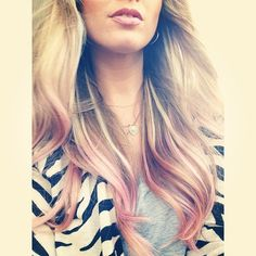 pastel pink hair. maybe a little darker, but i like the amount of hair colored
