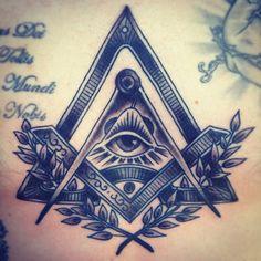 Freemason Compass and Square Tattoo
