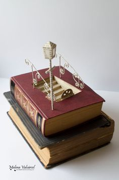 Into the unknown Book Sculpture Altered Book by MalenaValcarcel