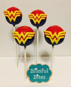 Wonder Woman Cake Pops