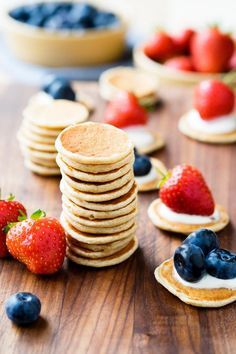 Pancakes that are perfect for toddlers, babies and baby led weaning. These healthy pancakes are so easy to make that even a toddler can help!