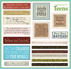 Messages for Teens #SubliminalParenting