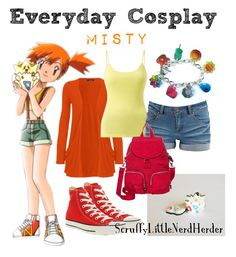Everyday Cosplay | Misty {Nintendo: Pokemon} Anime Inspired Outfits, Disney Inspired Fashion, Character Inspired Outfits, Disney Fashion, Casual Cosplay, Cosplay Outfits, Anime Outfits, Pokemon Outfits, Ddlg Outfits