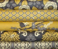 yellow & gray fabric