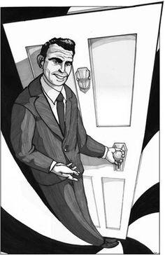 Rod Serling Portrait--from the waaaaay back machine.: