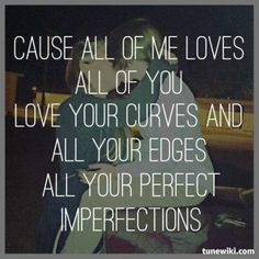 """""""All Of Me"""" by John Legend My head's under water but I am breathing fine. you're crazy and I am outta my mind. Love You All, Love Of My Life, My Love, Romantic Love, Hopeless Romantic, Music Lyrics, Lyric Art, Lyric Quotes, Daily Word"""