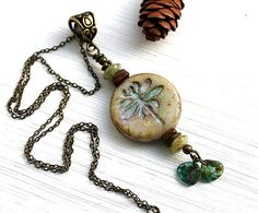 Rustic Dragonfly necklace Woodland Necklace by MayaHoneyJewelry