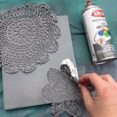 Doily Artwork {DIY Artwork}
