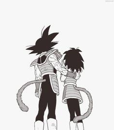Bardock and Gine. The parents of Goku.