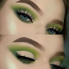 "The tutorial on this look just went up on my channel✨ Go check it and and leave some green emojis☘ EYESHADOW▫️ @morphebrushes 35B Palette & @makeupgeekcosmetics Enchanted Forest Eyeshadow BROWS▫️ @anastasiabeverlyhills Dipbrow in Blonde LASHES▫️ @lillylashes Miami Lashes (Save with code ""TINA"")✨ GLOW▫️ @anastasiabeverlyhills Moonchild Glow Kit ""Lucky Clover""☘ I used @morphebrushes to achieve this makeup look✨"