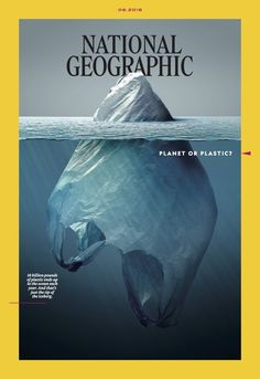 National Geographic magazine has launched a campaign titled 'Planet or Plastic' to raise awareness about plastic pollution and the threat it poses to the National Geographic Cover, Fotografia Social, Magazin Covers, Cinema Tv, Plakat Design, Cool Magazine, Plastic Pollution, Ocean Pollution, Nature
