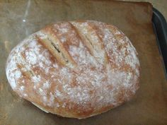 Easy home made bloomer loaf to accompany home made winter soup.