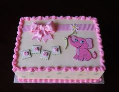 elephant baby showers Elephant baby shower Cake by CupsN