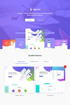 Buy AppLand - WordPress Theme For App & Saas Products by DroitThemes on ThemeForest. AppLand is a WordPress theme for App, Saas Products, Software, Startups and related products/services. App Landing Page, Landing Page Design, Web Design, Wordpress Theme Design, Website Themes, Website Design Inspiration, Showcase Design, App Development, Graphic