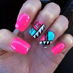 Beautiful And Creative Tribal Nails Designs Tribal Nail Designs, Nail Polish Designs, Nail Art Designs, Minimalist Nails, Fancy Nails, Diy Nails, Gorgeous Nails, Pretty Nails, Nails After Acrylics