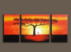 3 Pics Tree of Life Modern Art 100% Hand Painted Oil Painting on Canvas Wall Art Deco Home Decoration (Unstretch No Frame) by galleryworldwide, http://www.amazon.com/dp/B0094XRKXY/ref=cm_sw_r_pi_dp_rBdUrb11YM7MQ