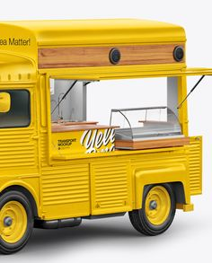 Citroen Hy Van Food Truck Mockup - Half Side View in Vehicle Mockups on Yellow Images Object Mockups Mobile Food Cart, Mobile Food Trucks, Food Truck For Sale, Trucks For Sale, Cafe Shop Design, Citroen H Van, Food Cart Design, Light Truck, Food Truck
