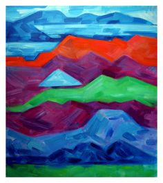 Bay Area Mountains | From a unique collection of landscape paintings at https://www.1stdibs.com/art/paintings/landscape-paintings/