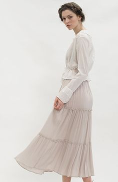 Soft Wisteria Skirt | Vintage Inspired Clothing