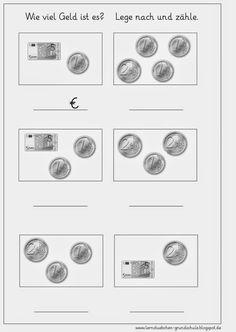 unterrichtsmaterial rechnen geld ideen rechnen mit geld matheunterricht und mathe. Black Bedroom Furniture Sets. Home Design Ideas