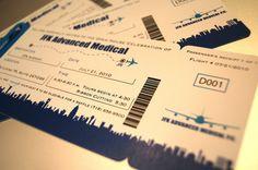 Deposit Airline Ticket Invitations - Boarding Pass JFK Airport New York
