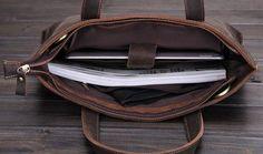 Vintage Style Genuine Leather Shoulder Bag, Messenger Briefcase ZB02