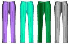 Pantalon corte clasico recto de dama.