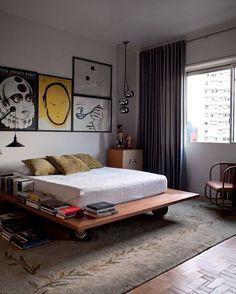 Quarto vintage e pop em São Paulo. #decor #decoracao #decoration #interiores #quarto #interiordesign #design #bomdia #pop #vintage Créditos: @casavoguebrasil
