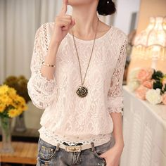 Chiffon O-Neck Blouse With Long Sleeves | Online Shopping | Zorket