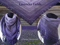 Eigen ontwerp van Annie Germeraad.  Gehaakt met Unikatgaren in lila-paarstinten.