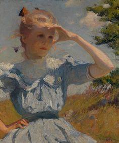 American Impressionism: A New Vision at Scottish National Gallery of Modern Art. Frank Weston Benson, Eleanor, 1901, Gift of the Estate of Mrs. Gustav Radeke. Museum of Art, Rhode Island School of Design, Providence.